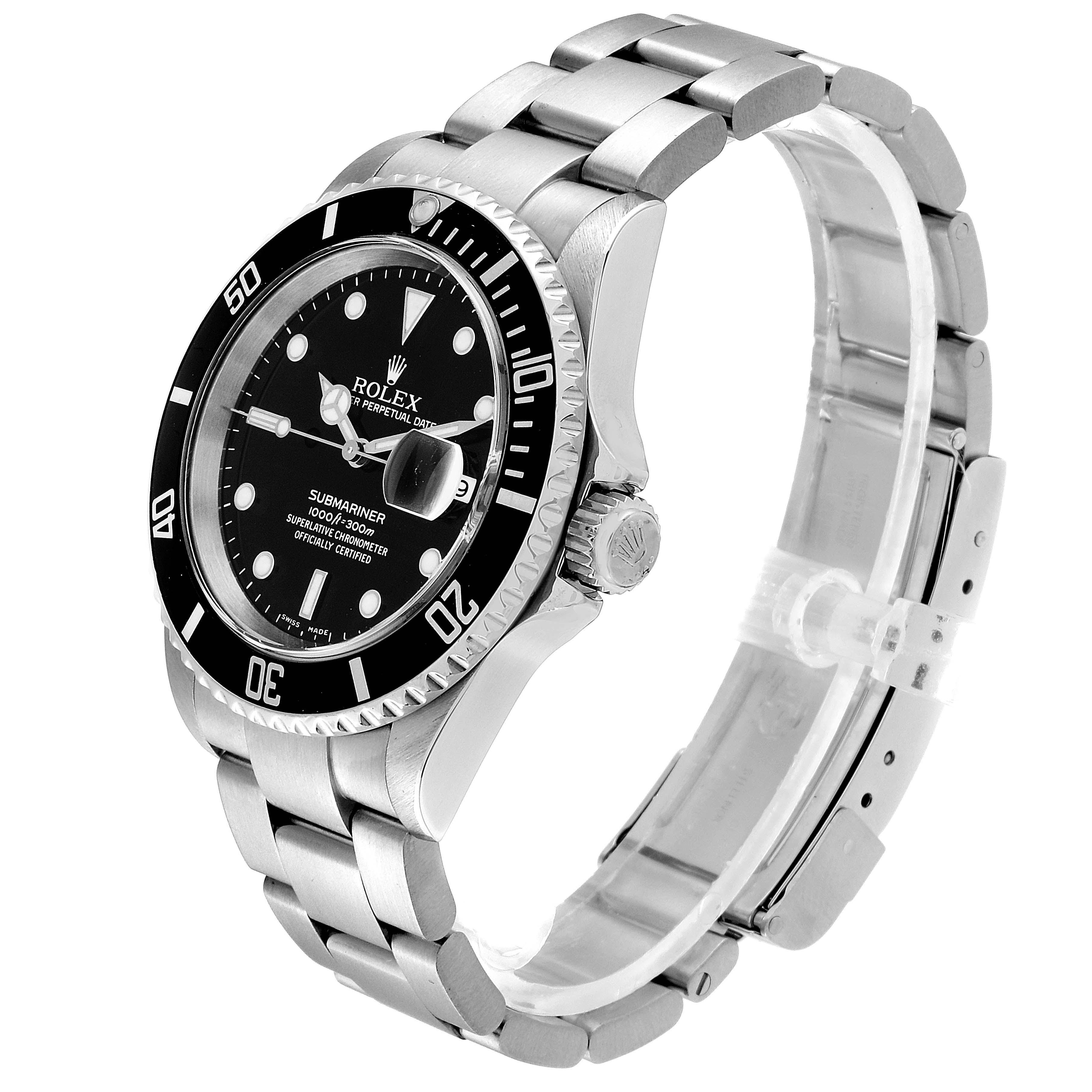 Rolex Submariner Date 40mm Stainless Steel Mens Watch 16610 SwissWatchExpo