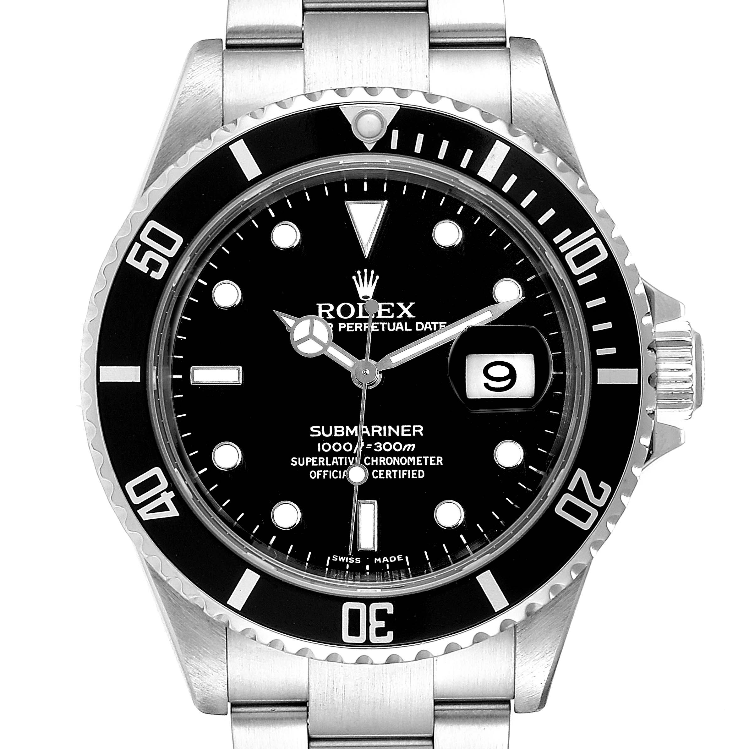 Photo of Rolex Submariner Date 40mm Stainless Steel Mens Watch 16610