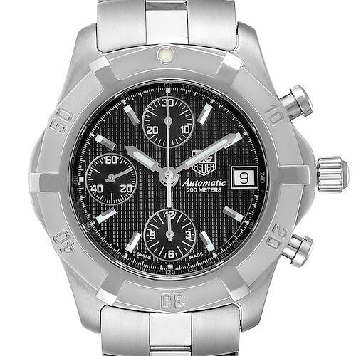 Photo of Tag Heuer Exclusive Black Dial Chronograph Steel Mens Watch CN2111