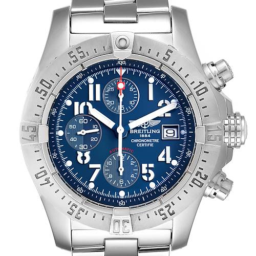 Photo of Breitling Avenger Skyland Blue Dial Mens Watch A13380 Box Papers