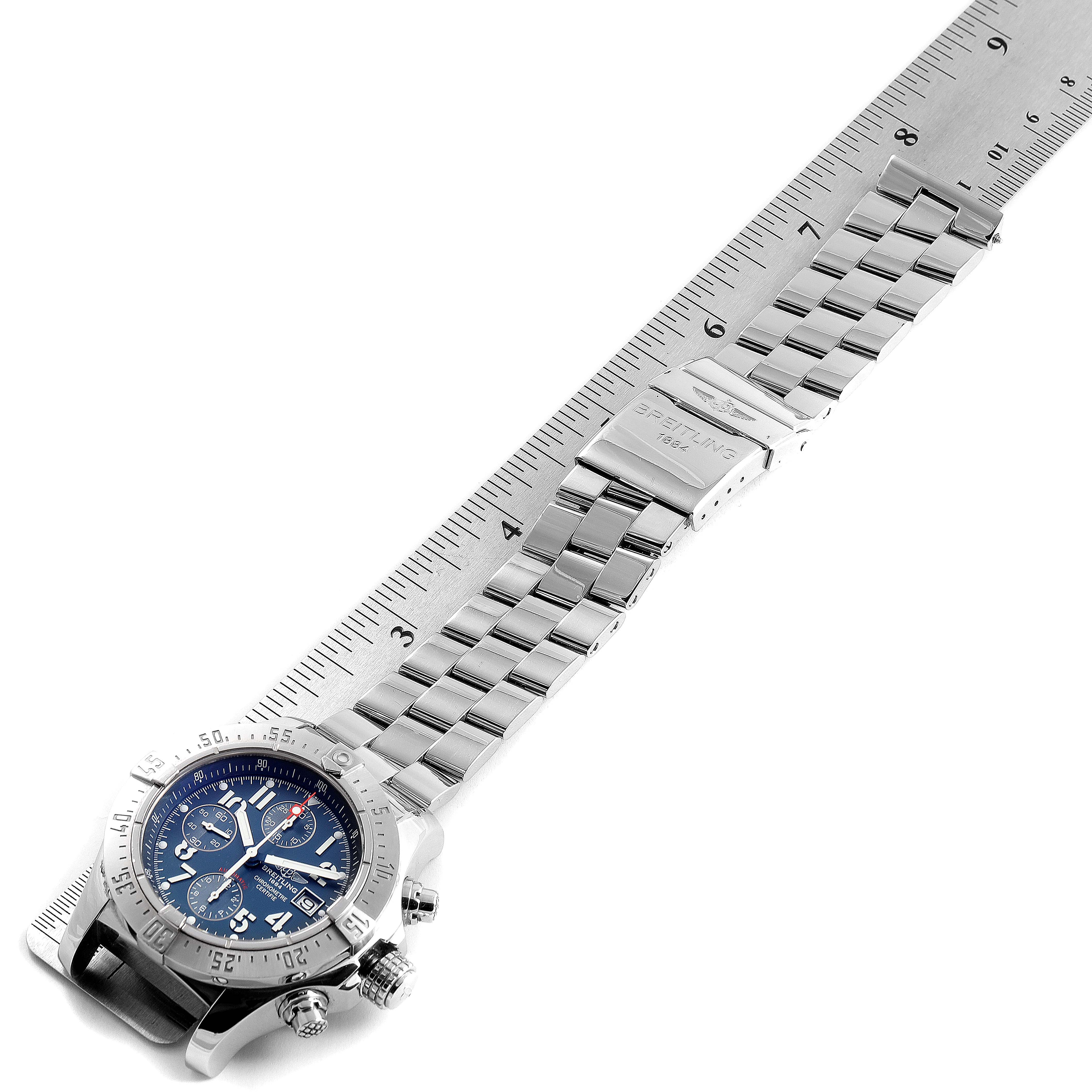 Breitling Avenger Skyland Blue Dial Mens Watch A13380 Box Papers SwissWatchExpo