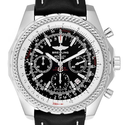 Photo of Breitling Bentley Black Dial Chronograph Steel Mens Watch A25362