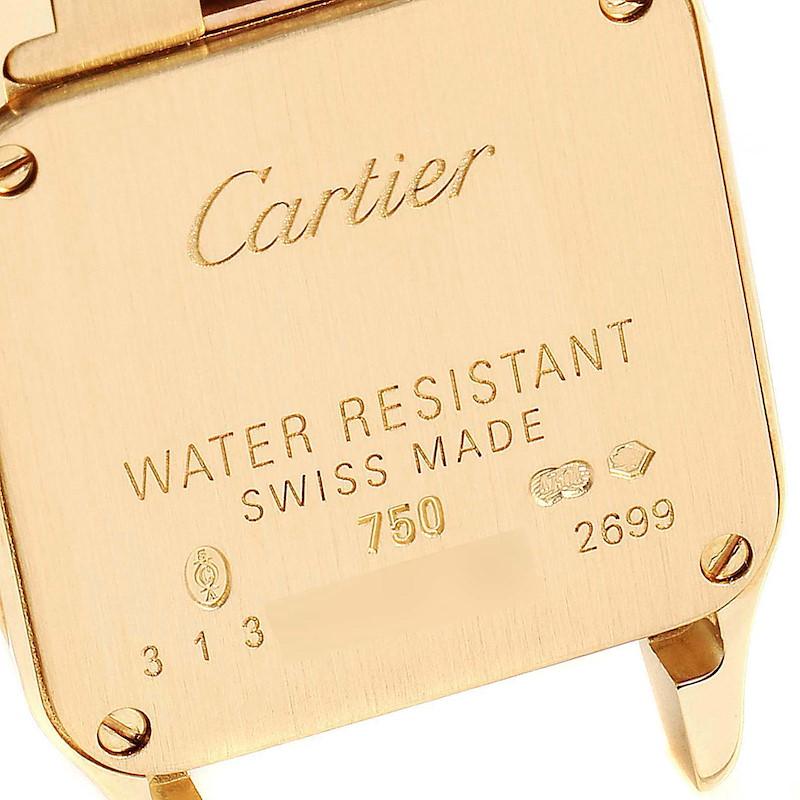 Cartier Santos Demoiselle 24mm Yellow Gold Ladies Watch W25063X9 SwissWatchExpo