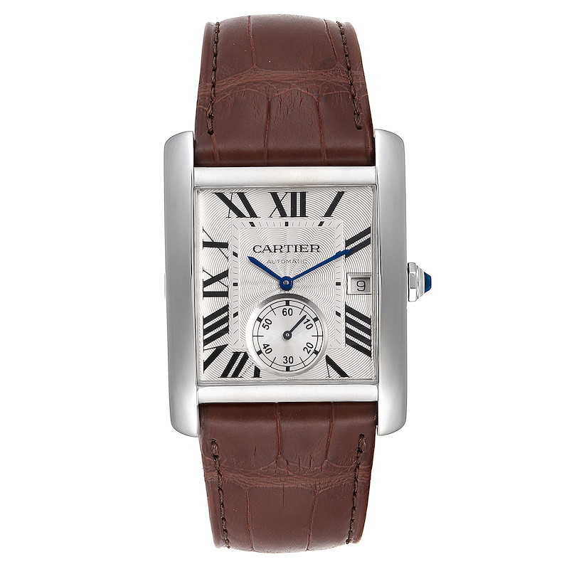 Cartier Tank MC Silver Dial Automatic Steel Mens Watch W5330003 SwissWatchExpo