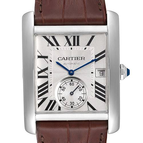 Photo of Cartier Tank MC Silver Dial Automatic Steel Mens Watch W5330003