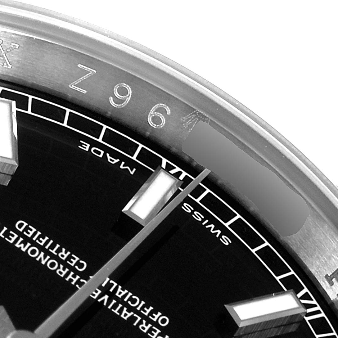 Rolex Datejust Steel White Gold Black Dial Mens Watch 116234 Box Card SwissWatchExpo