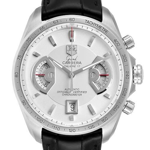 Photo of Tag Heuer Grand Carrera White Dial Mens Watch CAV511B Box Card