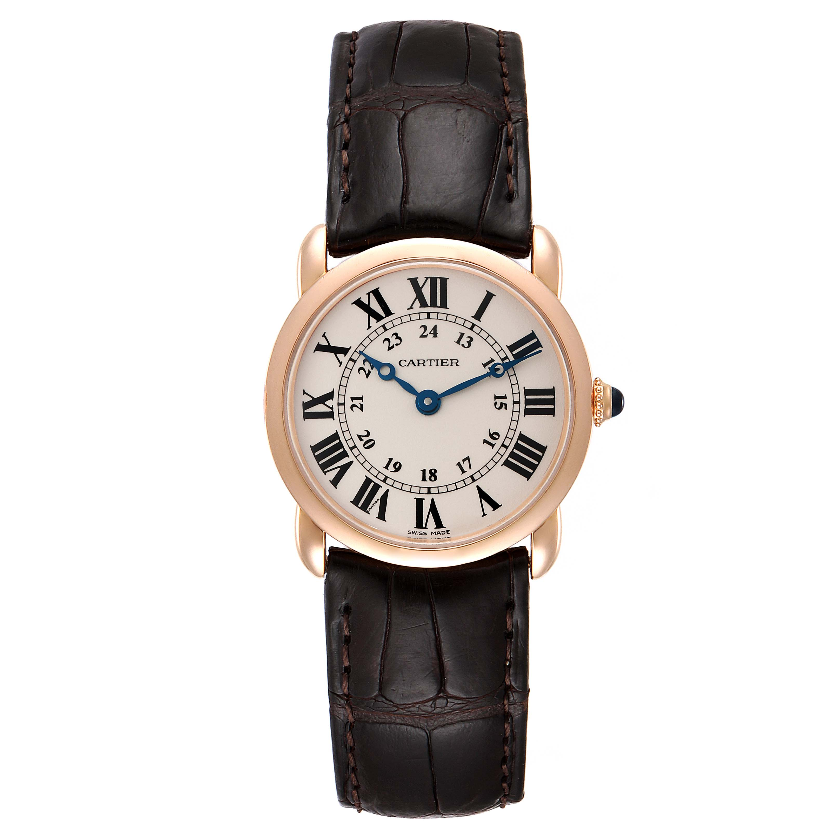Cartier Ronde Louis Rose Gold Small Ladies Watch W6800151 Box Papers SwissWatchExpo