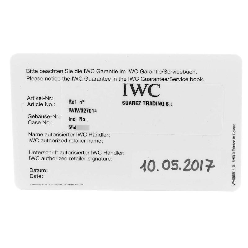 IWC Pilot Mark XVIII Petit Prince Blue Dial Mens Watch IW327014 Papers SwissWatchExpo