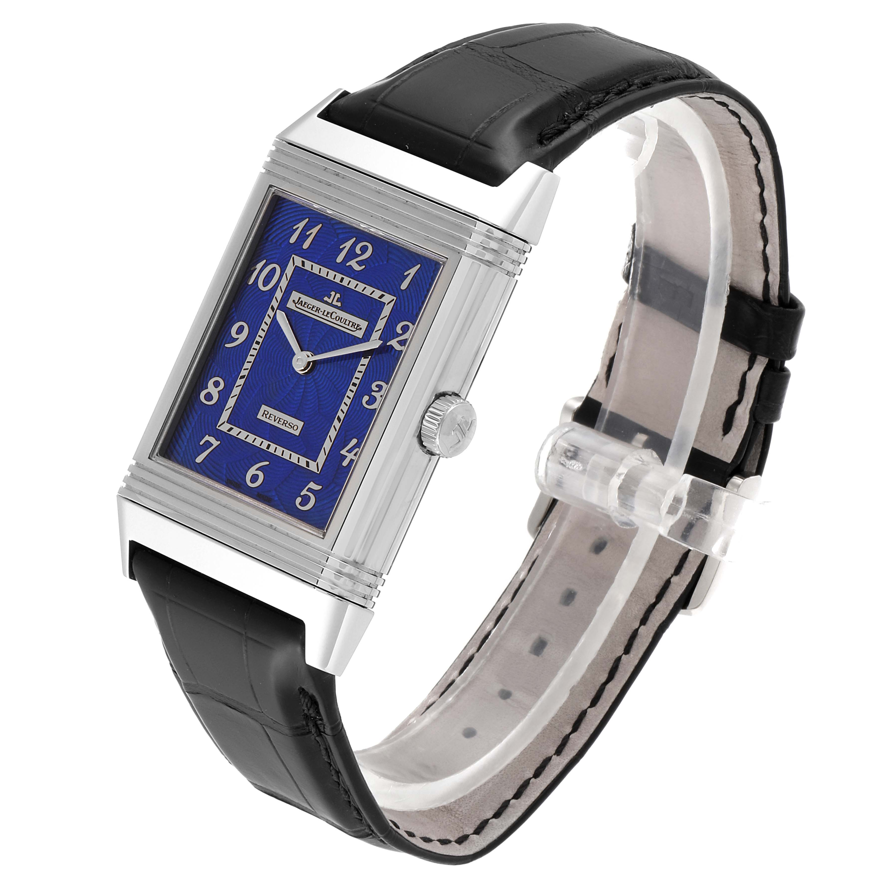 Jaeger LeCoultre Grande Reverso White Gold Limited Watch 273.3.62 Box Card SwissWatchExpo