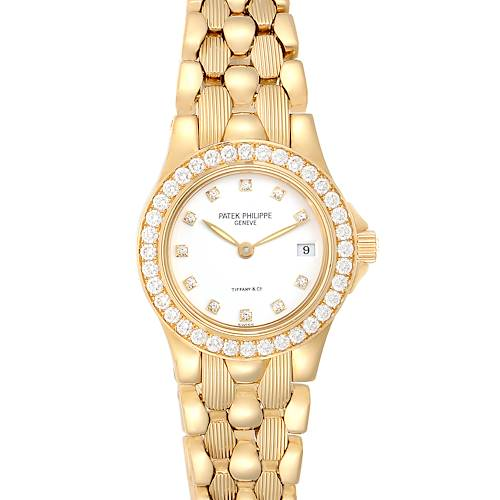 Patek Philippe Neptune Yellow Gold Diamond Ladies Watch 4881