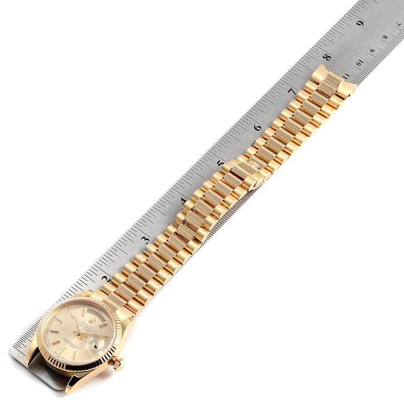 Rolex President Day Date 36mm Yellow Gold Mens Watch 118238 Box Papers SwissWatchExpo
