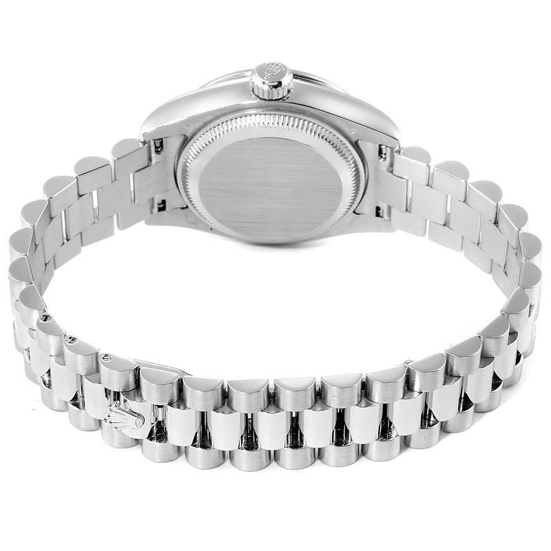 Rolex President Platinum Diamond Ladies Watch 179136 Box Papers SwissWatchExpo