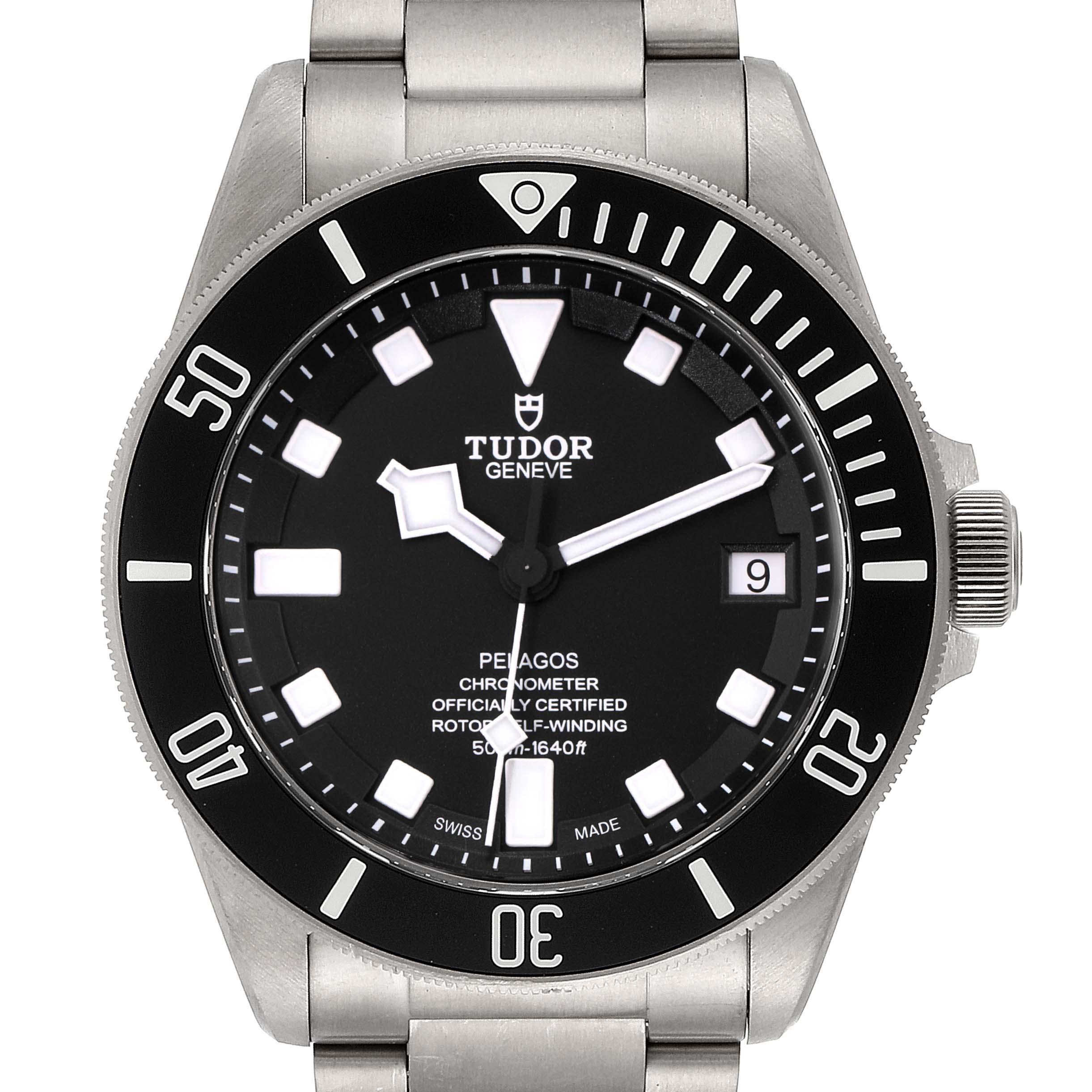 Photo of Tudor Pelagos Titanium Stainless Steel Mens Watch 25600TN Box Card