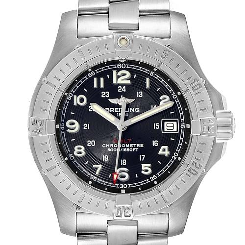 Photo of Breitling Colt Quartz Black Dial Stainless Steel Mens Watch A74380 Box Papers