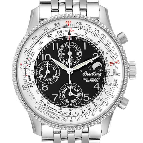Photo of Breitling Navitimer Montbrillant Olympus Chronograph Mens Watch A19350