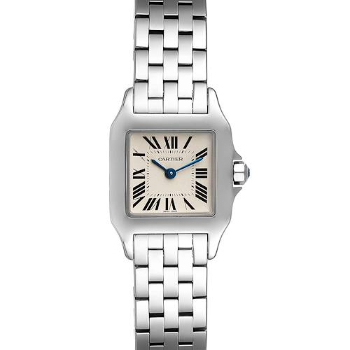 Photo of Cartier Santos Demoiselle Stainless Steel Ladies Watch W25064Z5 Box Papers