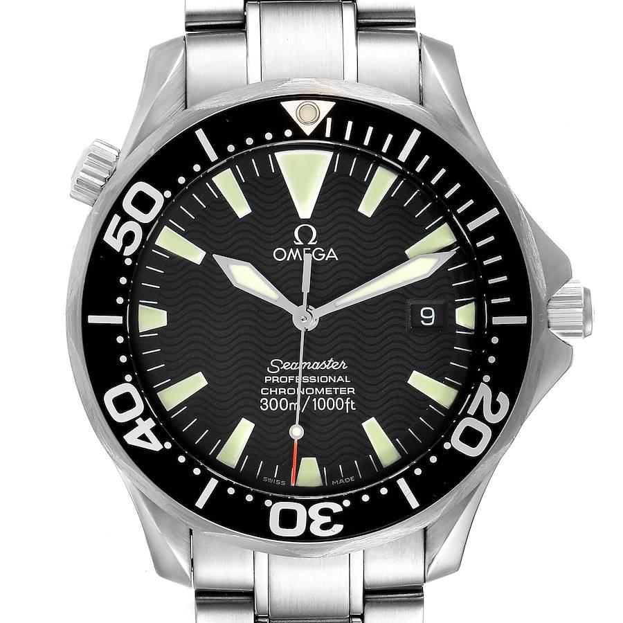 Omega Seamaster 41 300M Black Dial Steel Mens Watch 2254.50.00 SwissWatchExpo