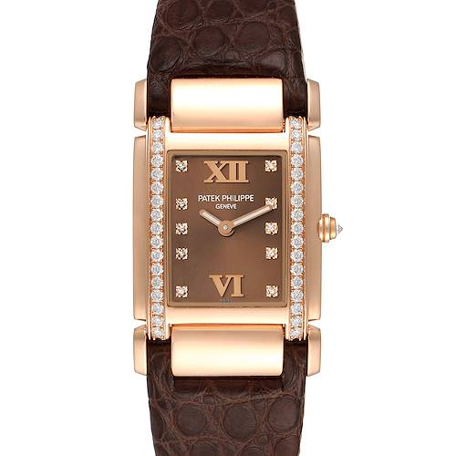 Photo of Patek Philippe Twenty-4 Rose Gold Brown Diamond Dial Ladies Watch 4920R