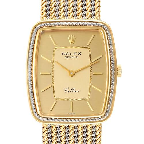 Photo of Rolex Cellini 18k Yellow White Gold Champagne Dial Unisex Watch 4340