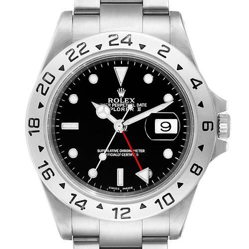 Photo of Rolex Explorer II Black Dial Automatic Steel Mens Watch 16570