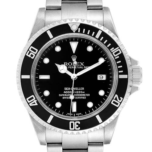 Photo of Rolex Seadweller Black Dial Automatic Steel Mens Watch 16600 Box Papers