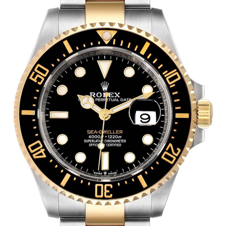 Rolex Seadweller Black Dial Steel Yellow Gold Mens Watch 126603 Unworn SwissWatchExpo