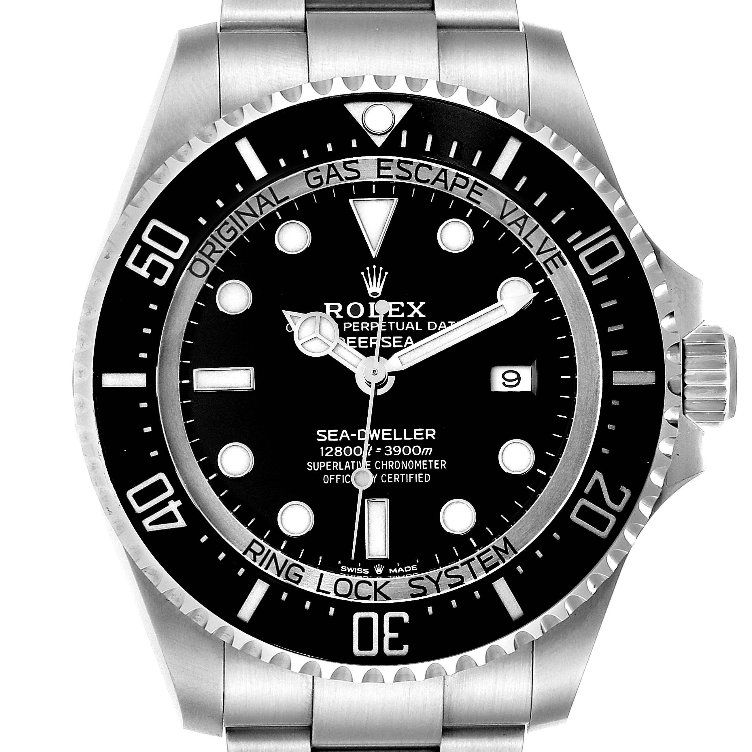 Photo of Rolex Seadweller Deepsea 44 Black Dial Steel Mens Watch 126660 Box Card