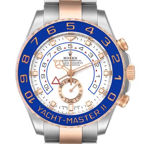 Photo of Rolex Yachtmaster II Rolesor EveRose Gold Steel Mens Watch 116681 Unworn
