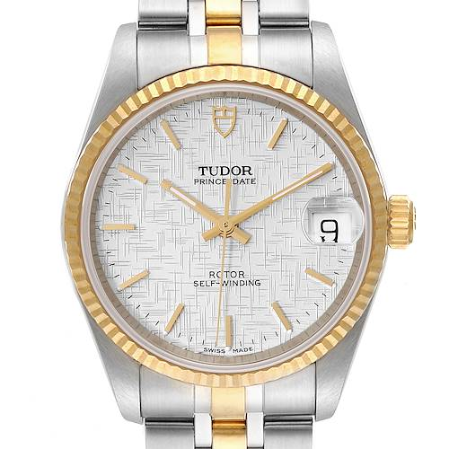 Photo of Tudor Prince Date Steel Yellow Gold Silver Dial Mens Watch 72033 Unworn