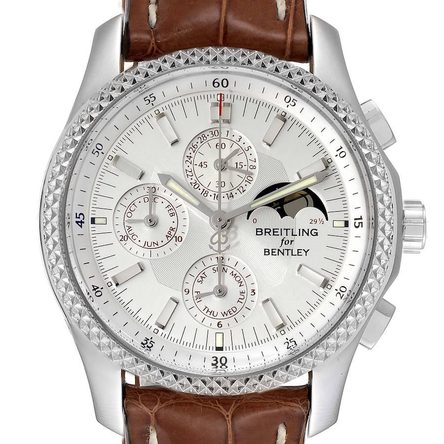 Breitling Bentley Mark VI Complications Steel Platinum Mens Watch P19362 SwissWatchExpo