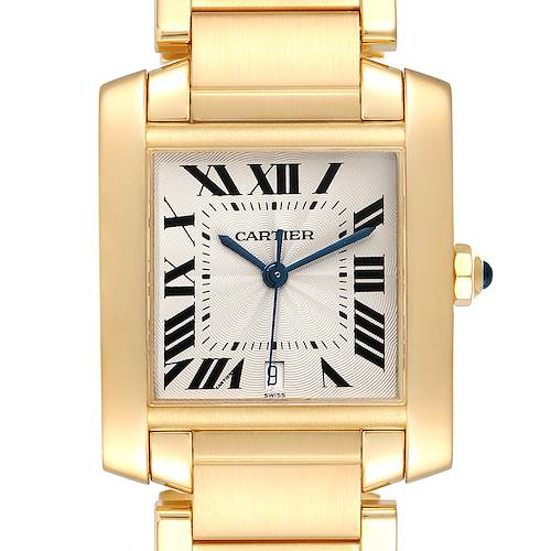 Photo of Cartier Tank Francaise Large Yellow Gold Automatic Unisex Watch W50001R2