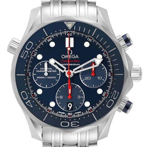 Photo of Omega Seamaster Diver 300M 44mm Blue Dial Watch 212.30.42.50.03.001 Box Card