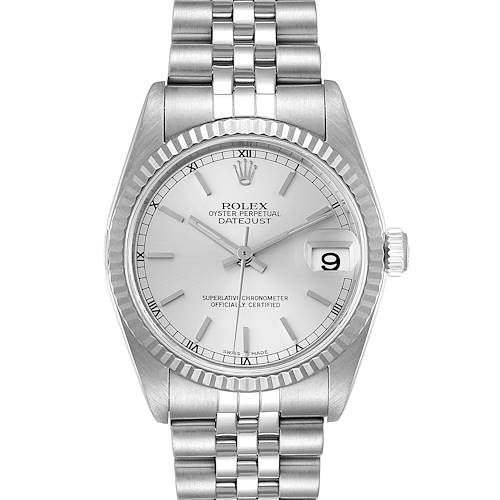 Photo of Rolex Datejust Midsize Steel White Gold Silver Dial Ladies Watch 78274