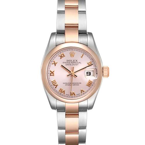 Photo of Rolex Datejust Steel Rose Gold Rose Roman Dial Ladies Watch 179161