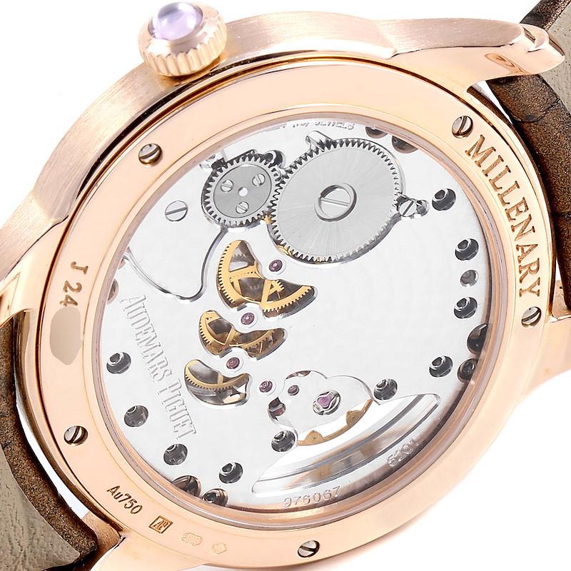 Audemars Piguet Millenary Rose Gold MOP Diamond Ladies Watch 77247OR SwissWatchExpo