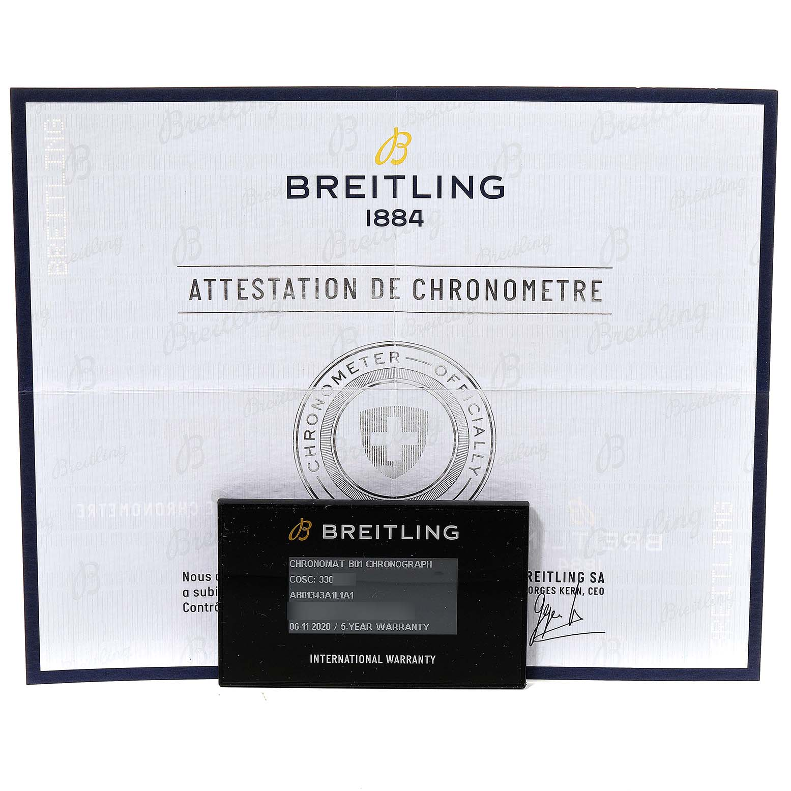 Breitling Chronomat B01 Green Dial Steel Mens Watch AB0134 Box Papers SwissWatchExpo