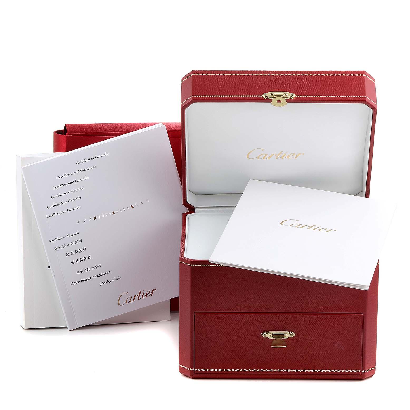 Cartier Tank Louis XL White Gold Diamond Mens Watch WT200006 Box Papers SwissWatchExpo