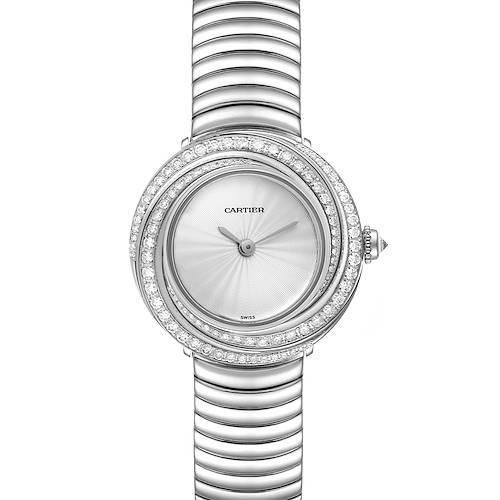 Photo of Cartier Trinity 18k White Gold Silver Dial Diamond Ladies Watch 2444