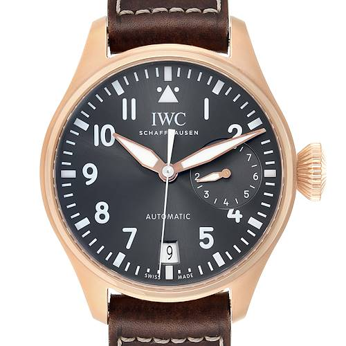 Photo of IWC Big Pilot Spitfire Slate Dial Rose Gold Mens Watch IW500917 Box Card