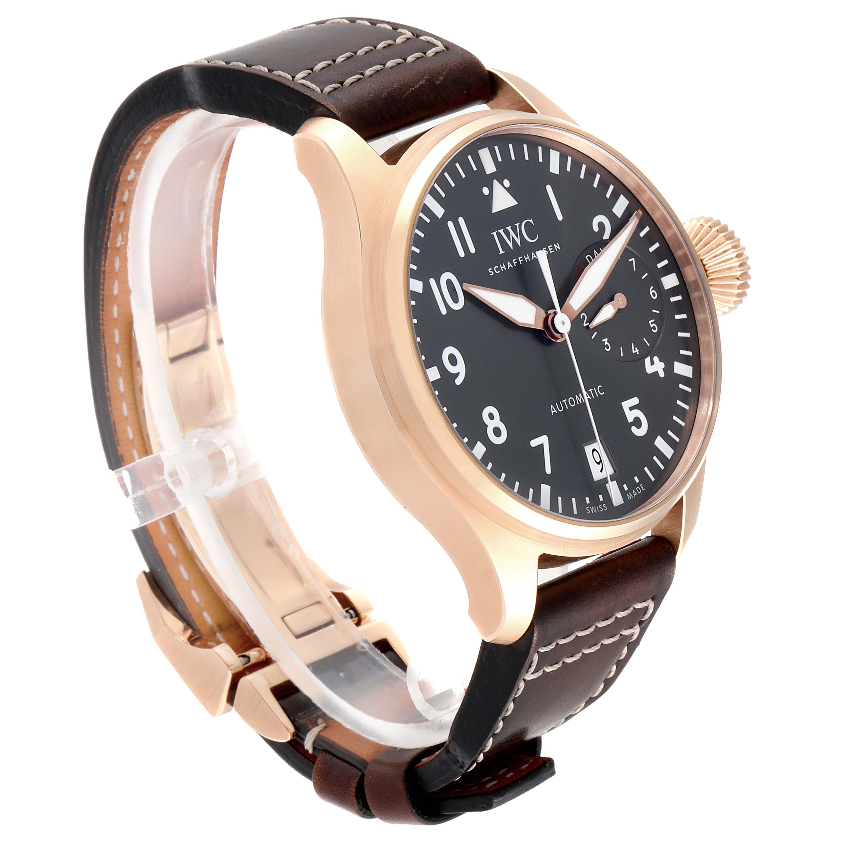 IWC Big Pilot Spitfire Slate Dial Rose Gold Mens Watch IW500917 Box Card SwissWatchExpo