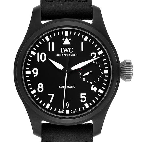 Photo of IWC Big Pilot Top Gun Black Ceramic Mens Watch IW502001 Box Card