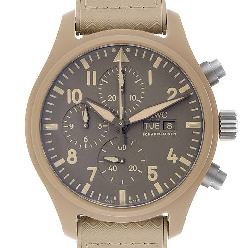 Photo of IWC Big Pilot Top Gun Chronograph Mojave Desert Brown Dial Mens Watch IW389103