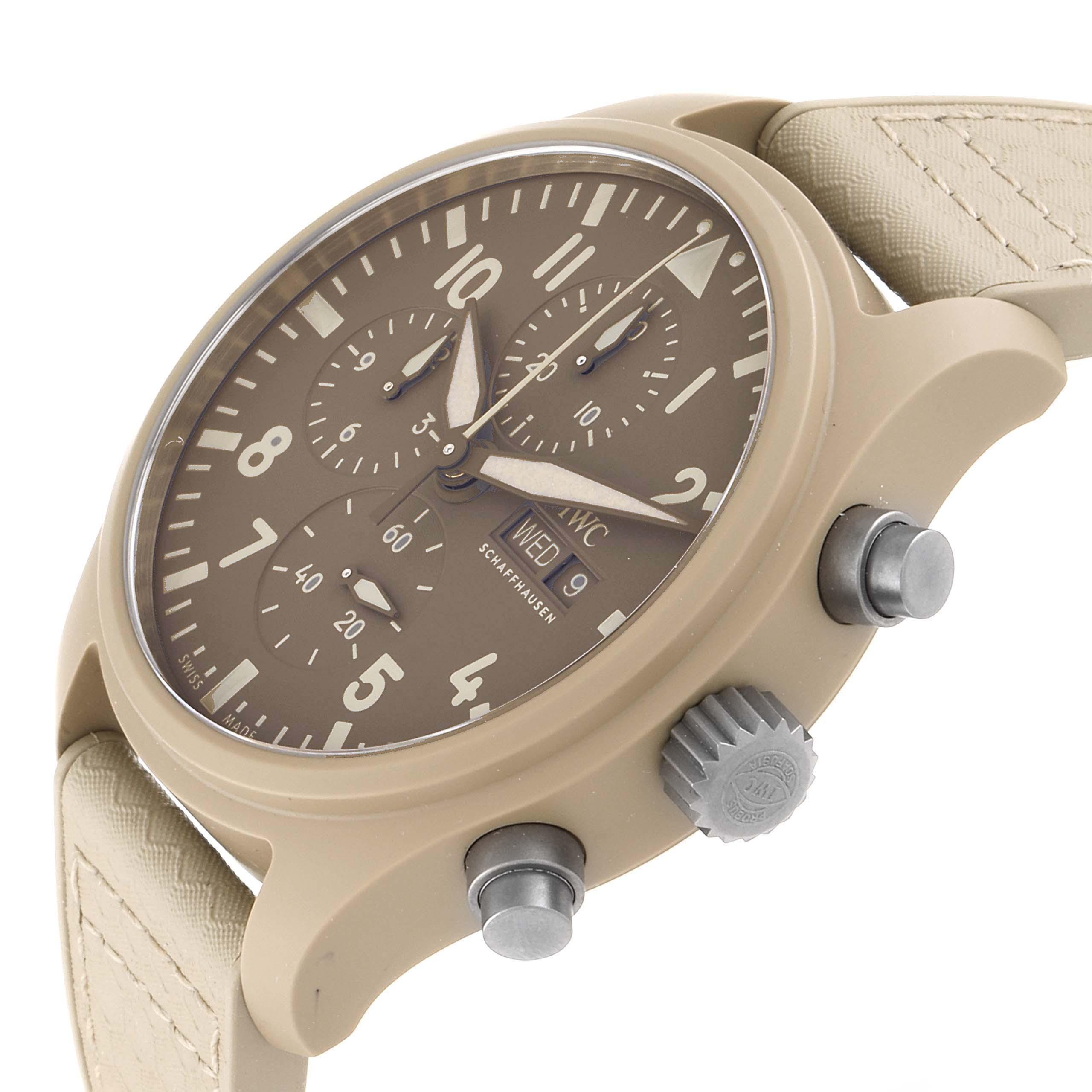 IWC Big Pilot Top Gun Chronograph Mojave Desert Brown Dial Mens Watch IW389103 SwissWatchExpo