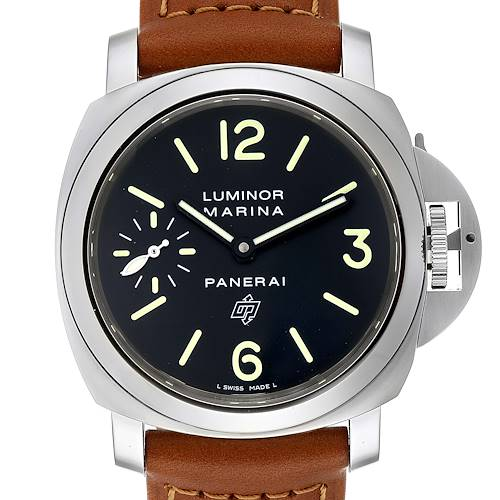 Photo of Panerai Luminor Base Logo 44mm Steel Mens Watch PAM01005 Unworn