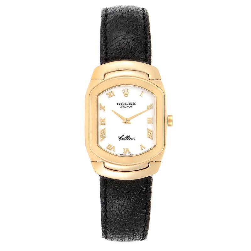 Rolex Cellini Cellissima Yellow Gold White Dial Ladies Watch 6631 SwissWatchExpo
