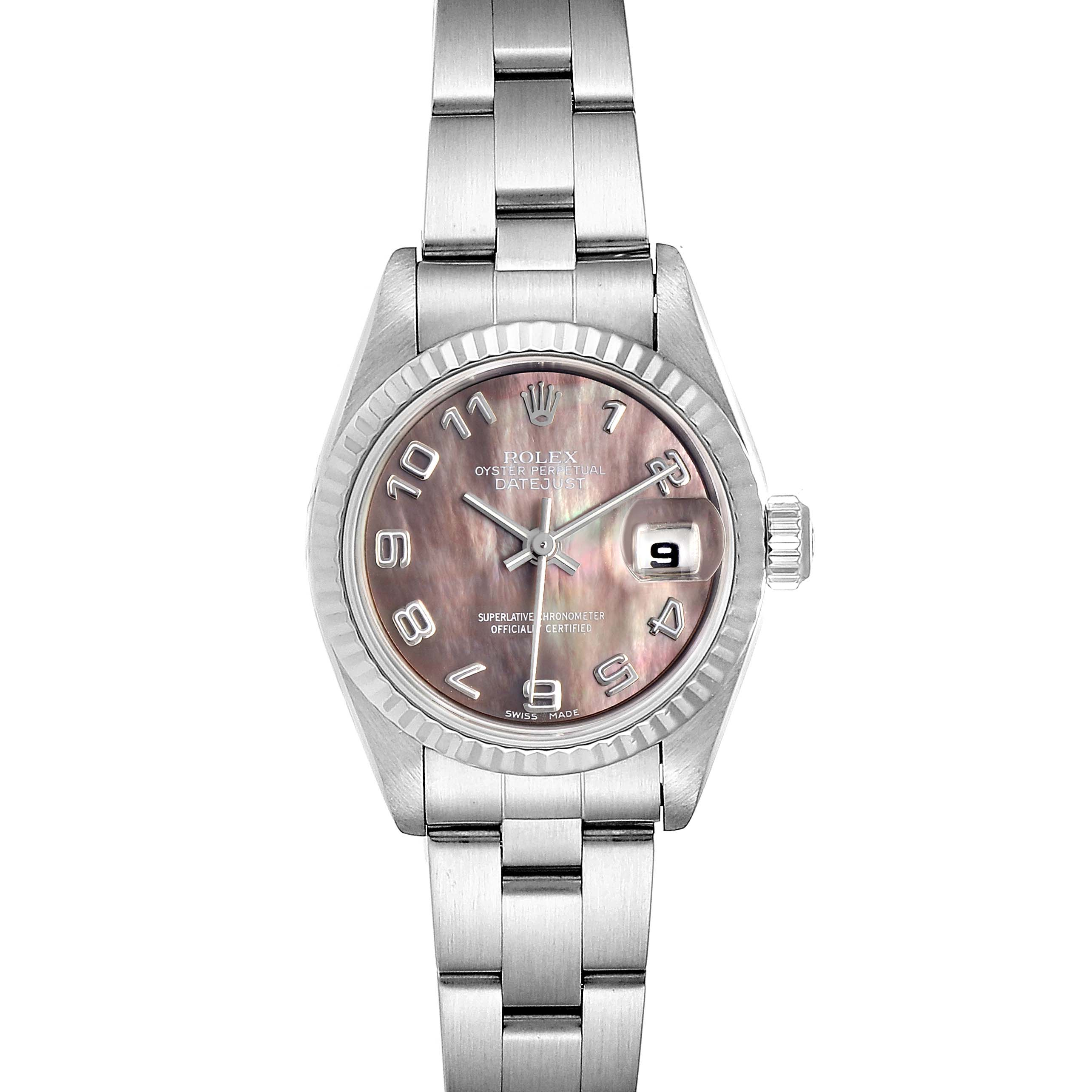 Photo of Rolex Datejust 26 Steel White Gold MOP Ladies Watch 79174 Box Papers