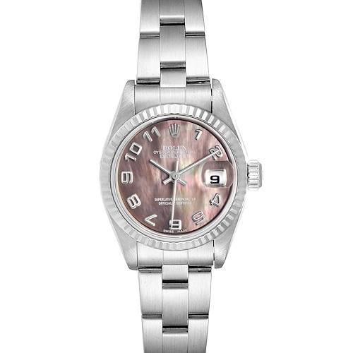 Photo of Rolex Datejust Steel White Gold Mother of Pearl Ladies Watch 79174 Box Papers