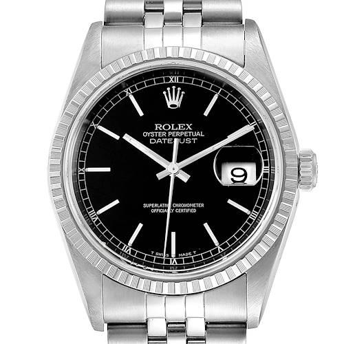 Photo of Rolex Datejust 36mm Black Dial Jubilee Bracelet Steel Mens Watch 16220