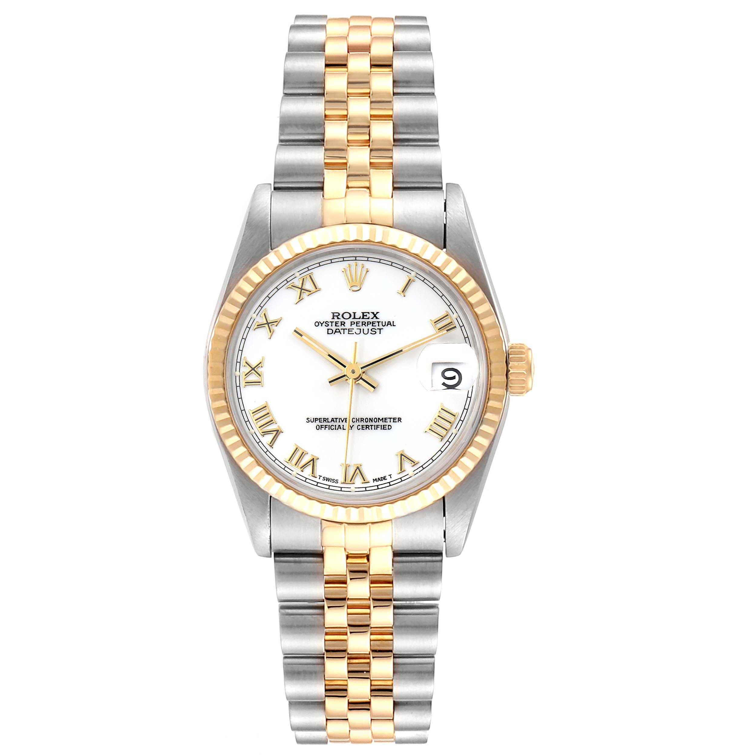 Rolex Datejust Midsize 31mm Steel Yellow Gold Ladies Watch 68273 SwissWatchExpo